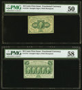 Fractional Currency:First Issue, Fr. 1242 10¢ First Issue PMG About Uncirculated 50;. Fr. 1312 50¢ First Issue PMG Choice About Unc 58.. ... (Total: 2 notes)