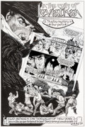 Original Comic Art:Splash Pages, Gary Gianni The Shadow: In the Coils of the Leviathan Splash Page Original Art (Dark Horse, 1993).... (Total: 4 Original Art)