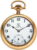 Timepieces:Pocket (post 1900), Ball Rare B of LF&E Official Standard 21 Jewel Hamilton, Marked Movement & Dial. ...