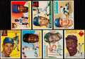Baseball Cards:Lots, 1954 to 1956 Topps Baseball Collection (7). ...