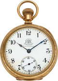 Timepieces:Pocket (pre 1900) , Ball Official B of RT Standard 17 Jewel Horse & Sulky Case...