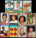 Baseball Cards:Lots, 1961 to 1965 Topps Star and Rookie Card Collection (11). ...