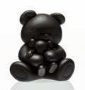 Fine Art - Sculpture, American:Contemporary (1950 to present), KAWS (American, b. 1974). Companion, Undercover Bear(Black), 2009. Cast vinyl. 6 x 5-1/2 x 4-1/2 inches (15.2 x 14x 11...