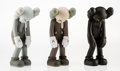 Fine Art - Sculpture, American:Contemporary (1950 to present), KAWS (American, b. 1974). Small Lie (three works),2017. Painted cast vinyl. 11 x 4-1/2 x 4-1/2 inches (27.9 x 11.4... (Total: 3 Items)