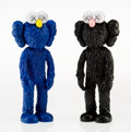 Fine Art - Sculpture, American:Contemporary (1950 to present), KAWS (American, b. 1974). BFF (Black and MoMA) (OpenEdition), 2017. Painted cast vinyl. 13-1/4 x 5-1/2 x 2-3/4inches (... (Total: 2 Items)