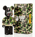 Fine Art - Sculpture, American:Contemporary (1950 to present), BE@RBRICK X BAPE. Camo Shark Hoodie 400% (Green), 2015.Painted cast vinyl. 10-1/2 x 5-1/4 x 3-1/2 inches (26.7 x 13.3 x...