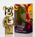 Fine Art - Sculpture, American:Contemporary (1950 to present), BE@RBRICK X Willy Wonka. Charlie and the Chocolate Factory,Golden Ticket 400%, 2007. Painted cast resin. 10-1/2 x 5-1/2...