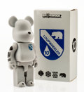 Fine Art - Sculpture, American:Contemporary (1950 to present), BE@RBRICK. Loopwheeler 400%, 2009. Cast resin, withflocking. 10-1/2 x 5 x 2-1/2 inches (26.7 x 12.7 x 6.4 cm). Stamped...