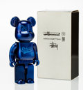 Fine Art - Sculpture, American:Contemporary (1950 to present), BE@RBRICK X Stussy. World Wide Tour Sapporo 400%, 2004.Painted cast vinyl. 10-3/4 x 5-1/4 x 2-1/2 inches (27.3 x 13.3 x...
