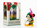 Collectible, Disney. Mickey Mouse, Jester, 2010. Painted cast vinyl. 6-1/2 x 2-1/2 x 2 inches (16.5 x 6.4 x 5.1 cm). Stamped on the u...