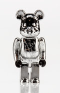 Fine Art - Sculpture, American:Contemporary (1950 to present), BE@RBRICK X Pushead. Silver Anniversary 100%, 2005. Chromecast resin . 2-3/4 x 1-1/4 x 1 inches (7.0 x 3.2 x 2.5 cm). S...