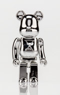 Fine Art - Sculpture, American:Contemporary (1950 to present), BE@RBRICK X Staple Design. Silver 100%, circa 2007. Chromecast resin. 2-3/4 x 1-1/4 x 1 inches (7.0 x 3.2 x 2.5 cm). St...