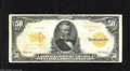 Large Size:Gold Certificates, Fr. 1199 $50 1913 Gold Certificate About Fine. Bright paper and small edge abrasions are found on this Teehee-Burke $50 Gold...