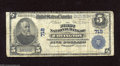 National Bank Notes:Kentucky, Covington, KY - $5 1902 Plain Back Fr. 598 The First NB Ch. # 718The signatures have faded and the back is centered hi...