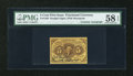 Fractional Currency:First Issue, Fr. 1230 5c First Issue with Huston Courtesy Autograph PMG ChoiceAbout Unc 58 EPQ....