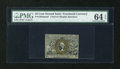 Fractional Currency:Second Issue, Fr. 1283SP 25c Second Issue Narrow Margin Face PMG Choice Uncirculated 64 EPQ....