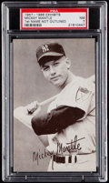Baseball Cards:Singles (1940-1949), 1947-1966 Exhibits Mickey Mantle (1st Name Not Outlined) PSA NM7....