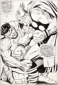 Jack Kirby and Vince Colletta Thor #126 Splash Page 9 Hercules Original Art (Marvel, 1966)