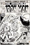 Original Comic Art:Covers, Gil Kane and Frank Giacoia Iron Man #75 Cover Original Art (Marvel, 1975)....