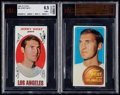Basketball Cards:Lots, 1969 & 1970 Topps Jerry West BVG Graded Pair (2)....