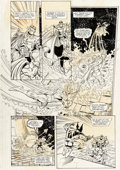 Original Comic Art:Panel Pages, Ron Lim, George Pérez, Joe Rubinstein, and Bruce N. SolotoffInfinity Gauntlet #4 Story Page 16 Thanos and Wolveri...