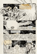 Original Comic Art:Panel Pages, Ron Lim, George Pérez, Joe Rubinstein, and Bruce N. SolotoffInfinity Gauntlet #4 Story Page 14 Thanos and Thor Or...