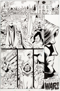 George Perez The Infinity Gauntlet #2 Story Page 40 Original Art (Marvel, 1991)