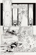 Original Comic Art:Panel Pages, Ron Lim, George Pérez, Joe Rubinstein, and Bruce N. SolotoffInfinity Gauntlet #4 Story Page 20 Thanos and Iron Ma...