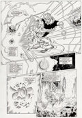 Original Comic Art:Panel Pages, Ron Lim and Joe Rubinstein Infinity Gauntlet #5 Story Page 9 Silver Surfer and Adam Warlock Original Art (Marvel, ...