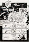 Original Comic Art:Panel Pages, Ron Lim, George Pérez, Joe Rubinstein, and Bruce N. SolotoffInfinity Gauntlet #4 Story Page 19 Thanos and Adam Wa...
