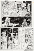 Original Comic Art:Panel Pages, Ron Lim and Joe Rubinstein Infinity Gauntlet #6 Story Page 5Thanos and Doctor Strange Original Art (Marvel, 1991)...