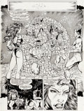 Original Comic Art:Panel Pages, Ron Lim and Joe Rubinstein Infinity Gauntlet #5 Story Page39 Drax the Destroyer and Thor Original Art (Marvel, 19...