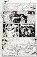 Original Comic Art:Panel Pages, Ron Lim and Joe Rubinstein Infinity Gauntlet #6 Story Page23 Thanos and Silver Surfer Original Art (Marvel, 1991)...