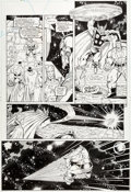 Original Comic Art:Panel Pages, Ron Lim and Joe Rubinstein Infinity Gauntlet #6 Story Page32 Thor and the Hulk Original Art (Marvel, 1991)....