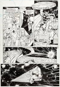 Ron Lim and Joe Rubinstein Infinity Gauntlet #6 Story Page 32 Thor and the Hulk Original Art (Marvel, 1991)