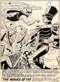 Original Comic Art:Splash Pages, Carmine Infantino and Bernard Sachs Green Lantern Comics #39 Unpublished Splash Page Original Art (DC, 1949)....