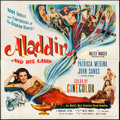 "Movie Posters:Adventure, Aladdin and His Lamp (Monogram, 1952). Six Sheet (79"" X 80.25""). Adventure.. ..."