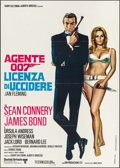 "Movie Posters:James Bond, Dr. No (United Artists, R-1970s). Italian 2 - Fogli (39.25"" X 55.25""). James Bond.. ..."