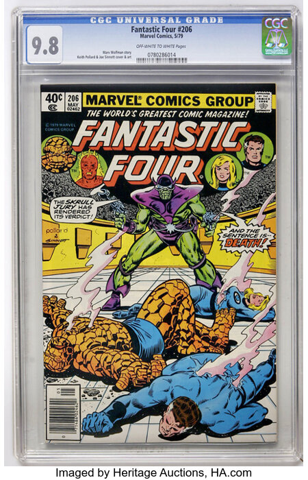 Fantastic Four #206 (Marvel, 1979) CGC NM/MT 9.8 Off-white to white pages....