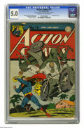 Golden Age (1938-1955):Superhero, Action Comics #76 (DC, 1944) CGC VG/FN 5.0 Cream to off-white pages. Japanese war cover by Wayne Boring and Stan Kaye. Ed Do...