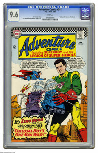 Adventure Comics #341 (DC, 1966) CGC NM+ 9.6 White pages. Triplicate Girl becomes Duo Damsel. Curt Swan and Sheldon Mold...