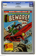 Bronze Age (1970-1979):Horror, Beware #2 (Marvel, 1973) CGC NM 9.4 White pages. Overstreet 2005NM- 9.2 value = $16. CGC census 7/05: 1 in 9.4, none higher...
