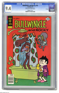 Bullwinkle #16 File Copy (Gold Key, 1977) CGC NM 9.4 Off-white pages. Overstreet 2005 NM- 9.2 value = $18. CGC census 7/...