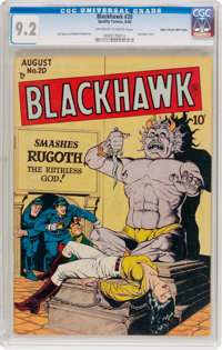 Blackhawk #20 Mile High Pedigree (Quality, 1948) CGC NM- 9.2 Off-white to white pages