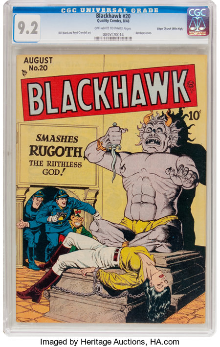 Blackhawk #20 Mile High Pedigree (Quality, 1948) CGC NM- 9.2 Off-white to white pages....