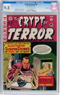 Golden Age (1938-1955):Horror, Crypt of Terror #18 Gaines File Pedigree 6/10(EC, 1950) CGC NM/MT9.8 Off-white to white pages....