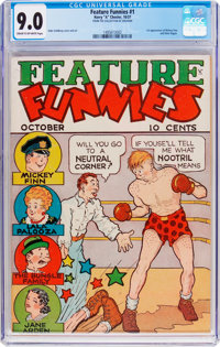 Feature Funnies #1 (Chesler, 1937) CGC VF/NM 9.0 Cream to off-white pages