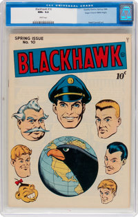 Blackhawk #10 Mile High Pedigree (Quality, 1946) CGC NM+ 9.6 White pages