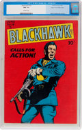 Golden Age (1938-1955):War, Blackhawk #19 Mile High Pedigree (Quality, 1948) CGC NM 9.4 Off-white pages....