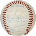 Autographs:Baseballs, 1976 New York Mets Team Signed Baseball. Much star power is presentwith the currently-offered ONL (Feeney) orb decorated w...